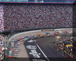 Matt Kenseth leads field to green flag and start of the Sharpie 500