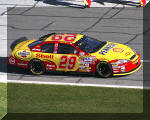 Kevin Harvick and the Shell/Pnnzoil Chevrolet