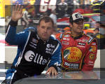 Truex Jr. at Driver Introductions in Bristol